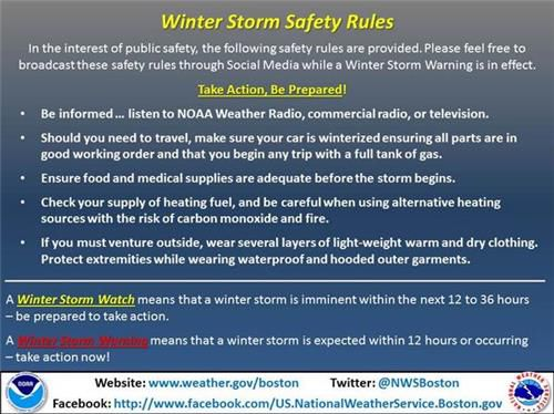Winter Storm Safety Rules