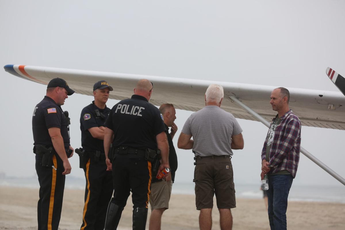 Plane lands on Ocean City beach at 49th Street Saturday, June 1, 2019
