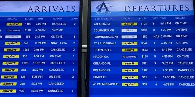 Spirit Airlines arrivals and departures
