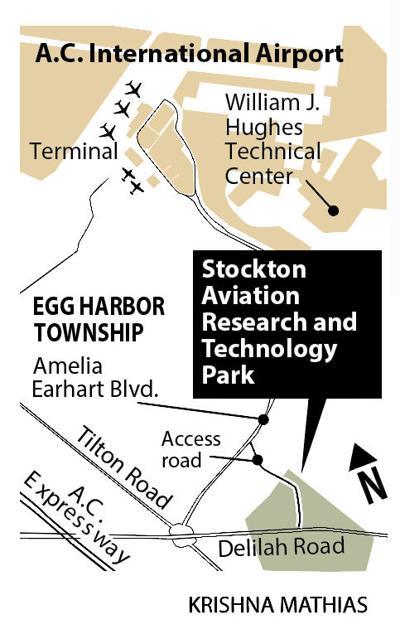 Stockton Aviation Research Tech Park map