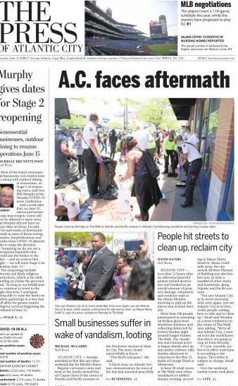 Breaking news coverage of Atlantic City protests