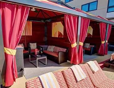 Poolside cabana at Golden Nugget