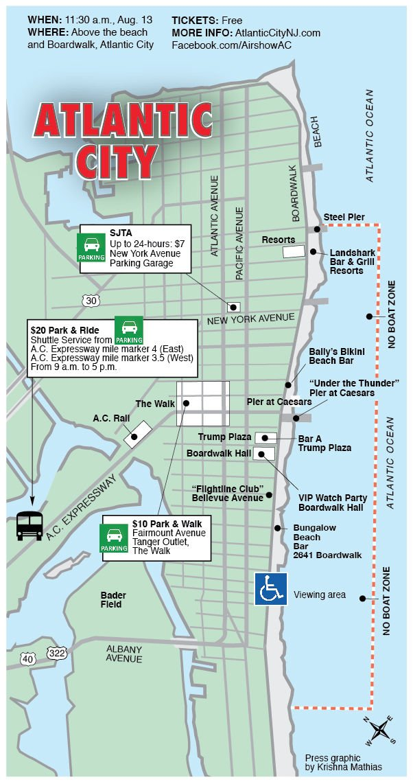 Parking Information For A C Airshow Plus Updated Info On No Boat Zone At The S Pressofatlanticcity
