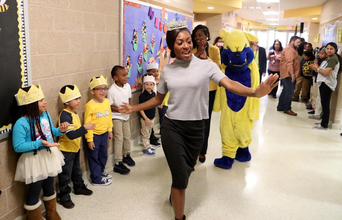 Miss America 2019 Nia Franklin visiting Pennsylvania Avenue School