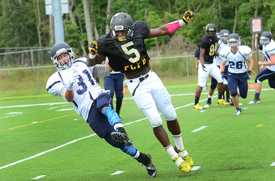 Prep takes a pounding, but learns along the way