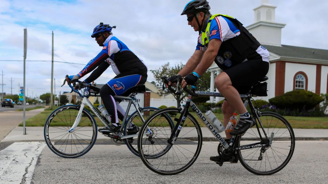 Brigantine honors police bike tour that cycles from Atlantic City to Washington D.C.