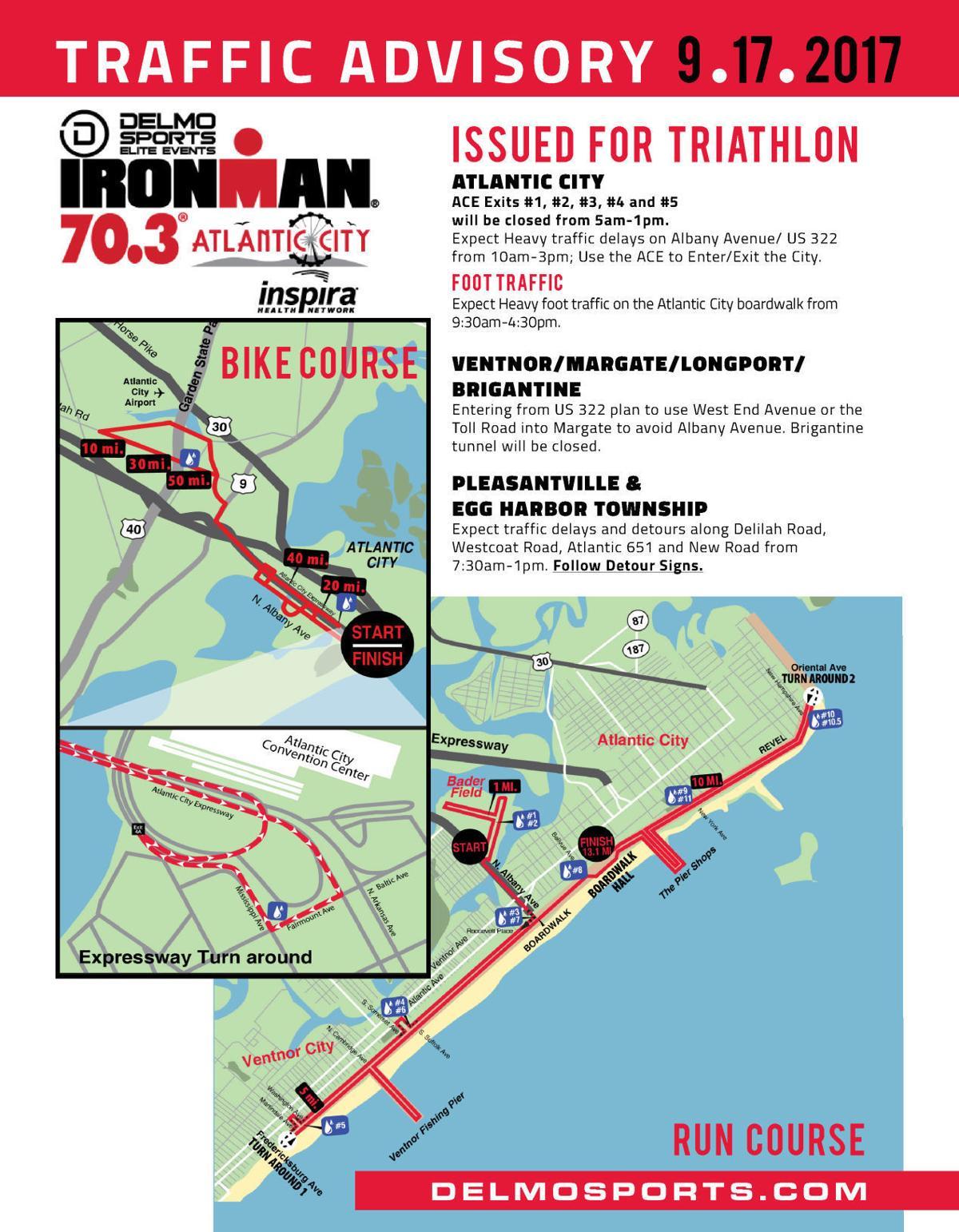 Ironman Triathlon Traffic Advisory