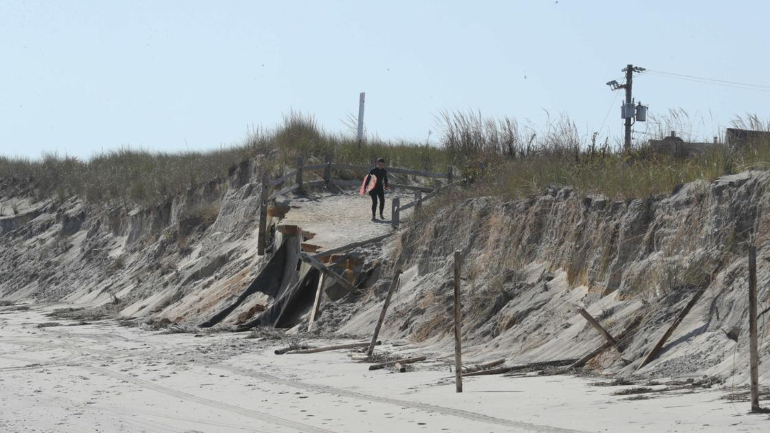 Last week's nor'easter brings severe beach erosion to some shore towns