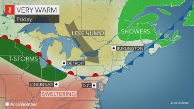Hot and humid sunshine on Friday in South Jersey
