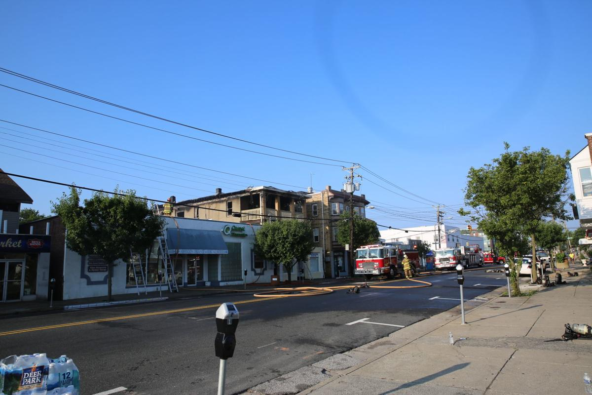 Fire at 6512 Ventnor Ave. in Ventnor Saturday morning, July 6, 2019.