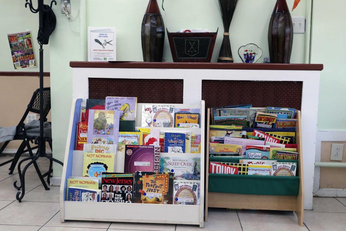 Mini libraries inside barber shops