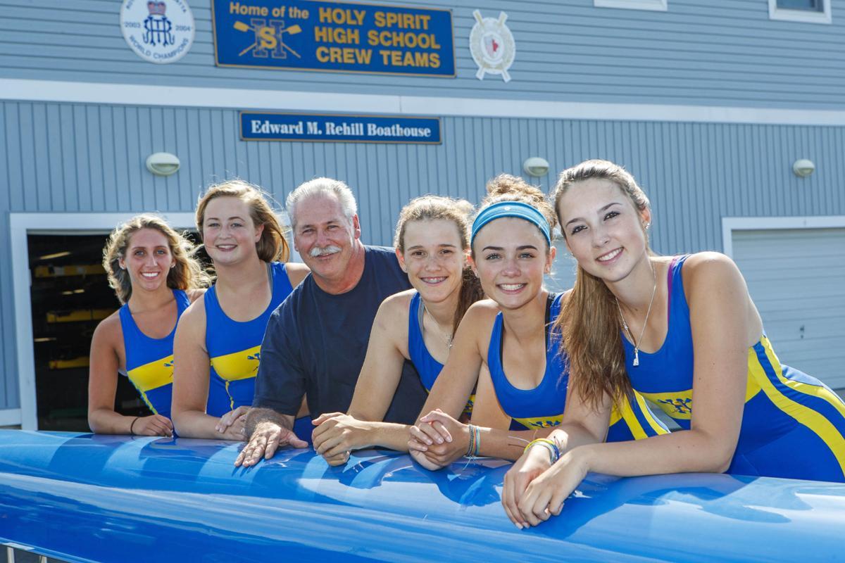 Holy Spirit Girls rowing varsity 8