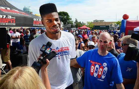 76ers' top pick Noel brings local fans hope