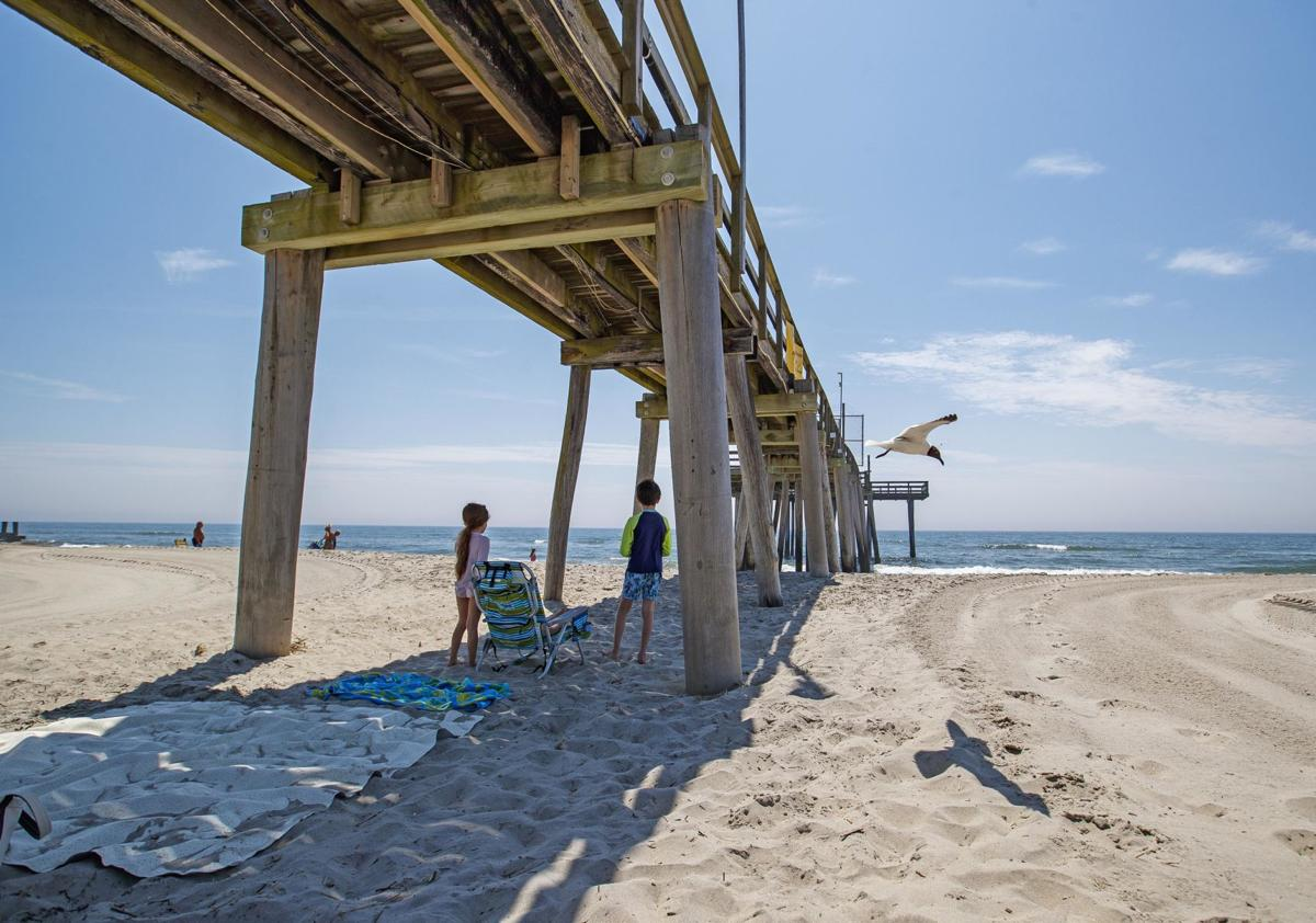 Anglers Club fishing pier extending