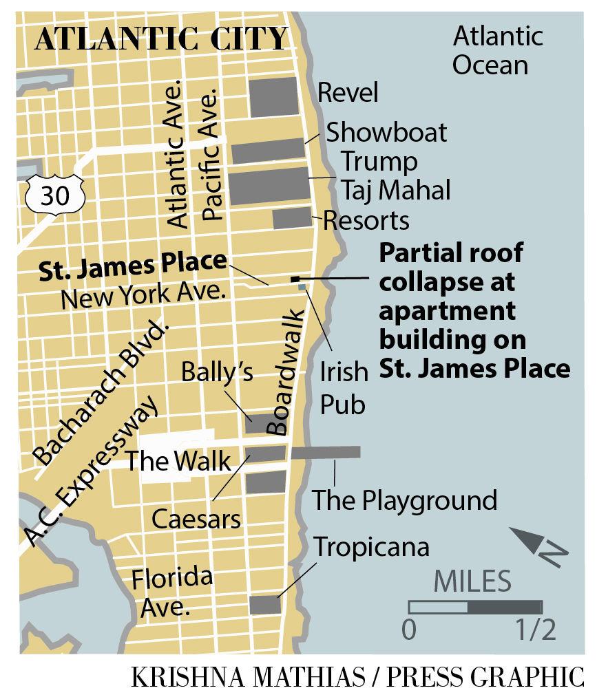 Roof collapse Atlantic City 6-8-2016