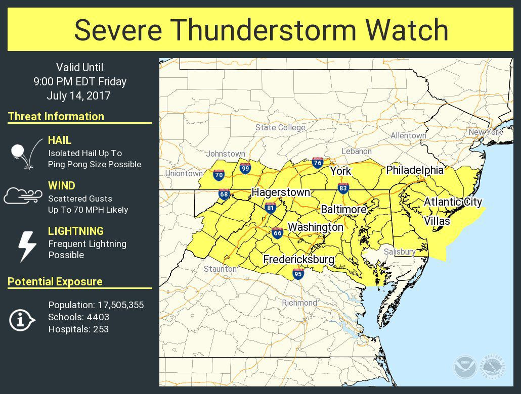 Severe Thunderstorm Watch until 9pm
