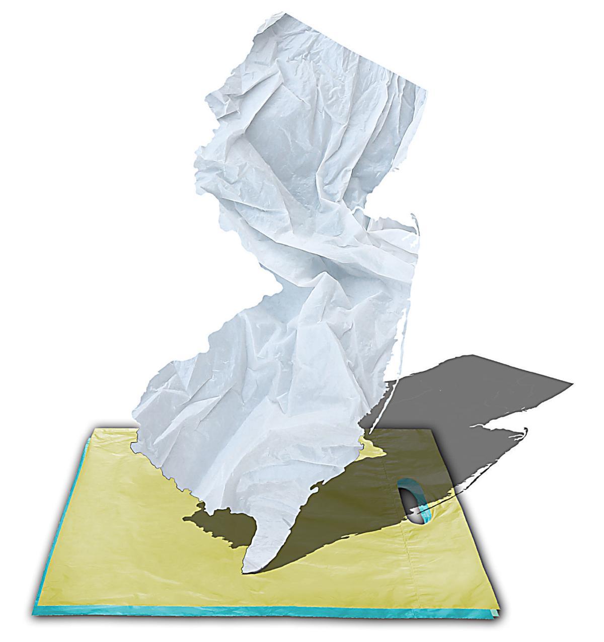 Plastic bag fee illustration