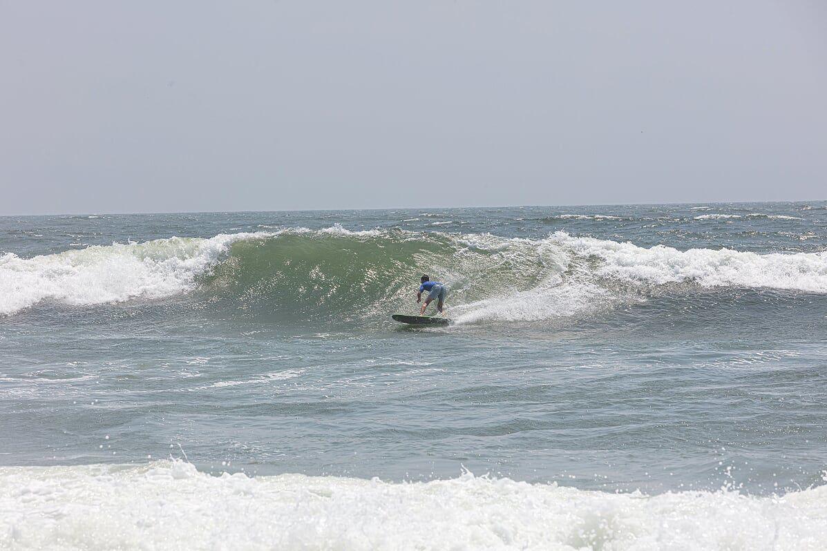 081519_bri_surfjam Mick Mayer LInes up a big section on a large set wave