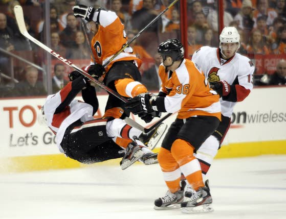 Flyers beat Senators, finally reach .500 mark