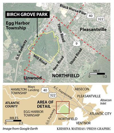 Birch Grove Park Northfield map