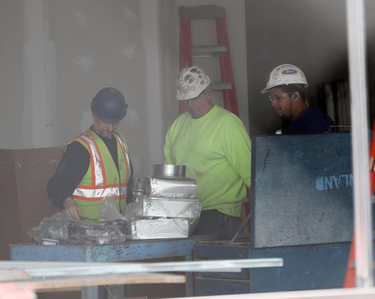 Hard hat workers at Hard Rock