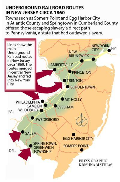 Underground Railroad map 2016