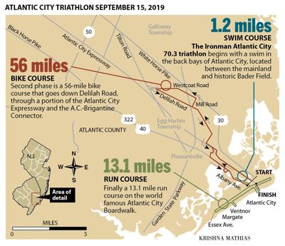 Atlantic City triathlon map 2019