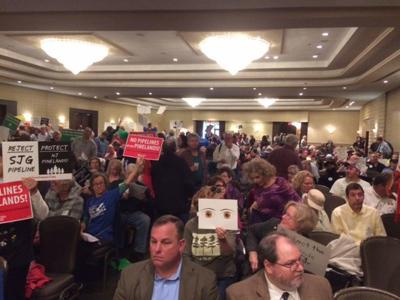 Another huge crowd of mostly pipeline opponents