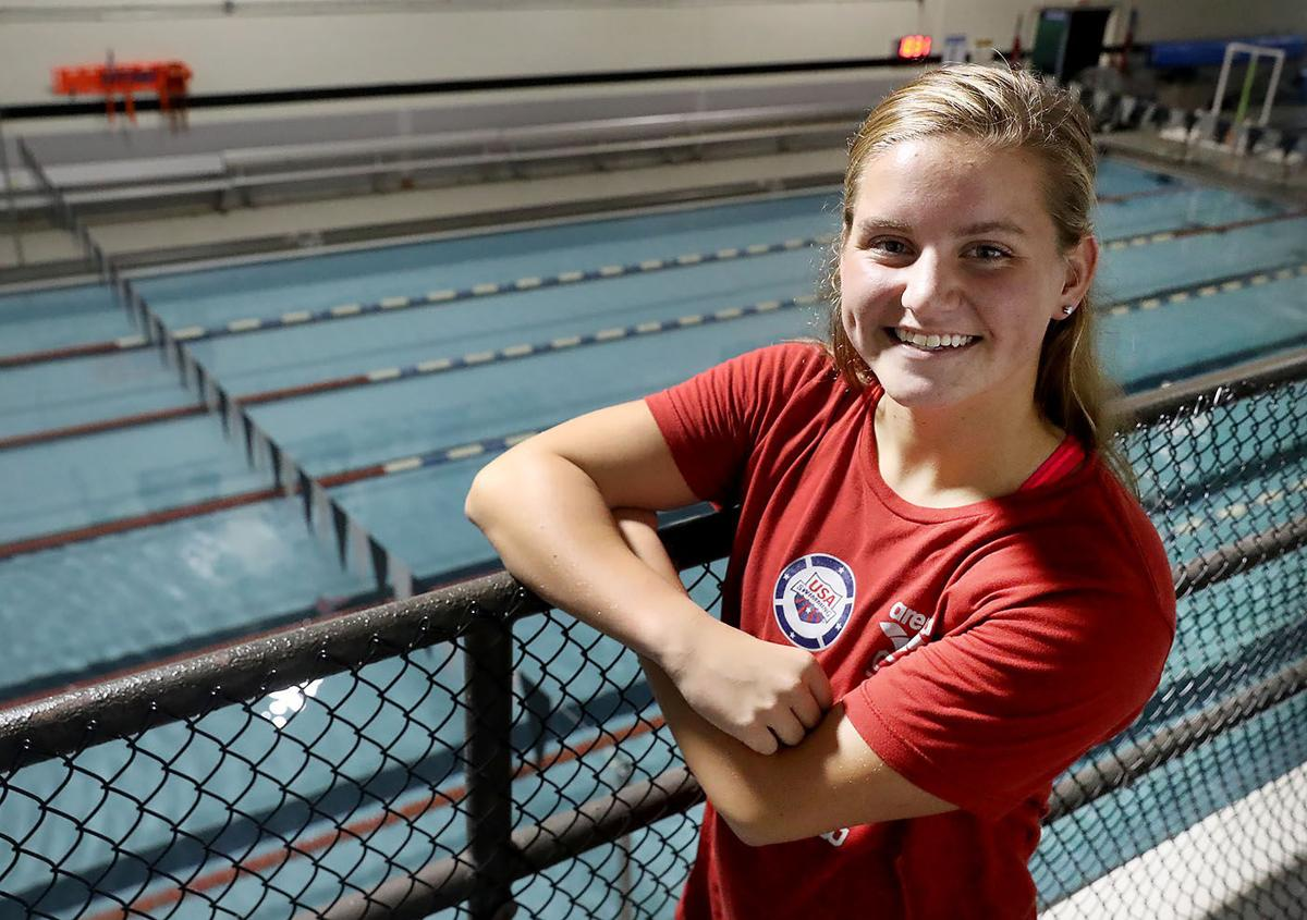 Ocean city 39 s maggie wallace to swim in hong kong for u s high school for United township high school swimming pool