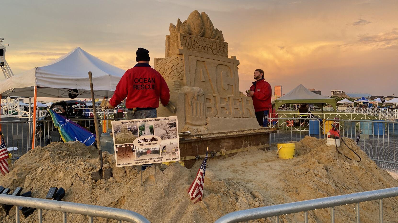 Atlantic City Beer & Music Festival kicks off with wet Friday night