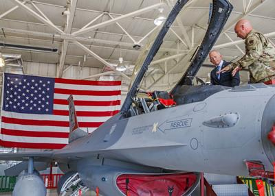 Congressman Jeff Van Drew toured 177th Fighter Wing