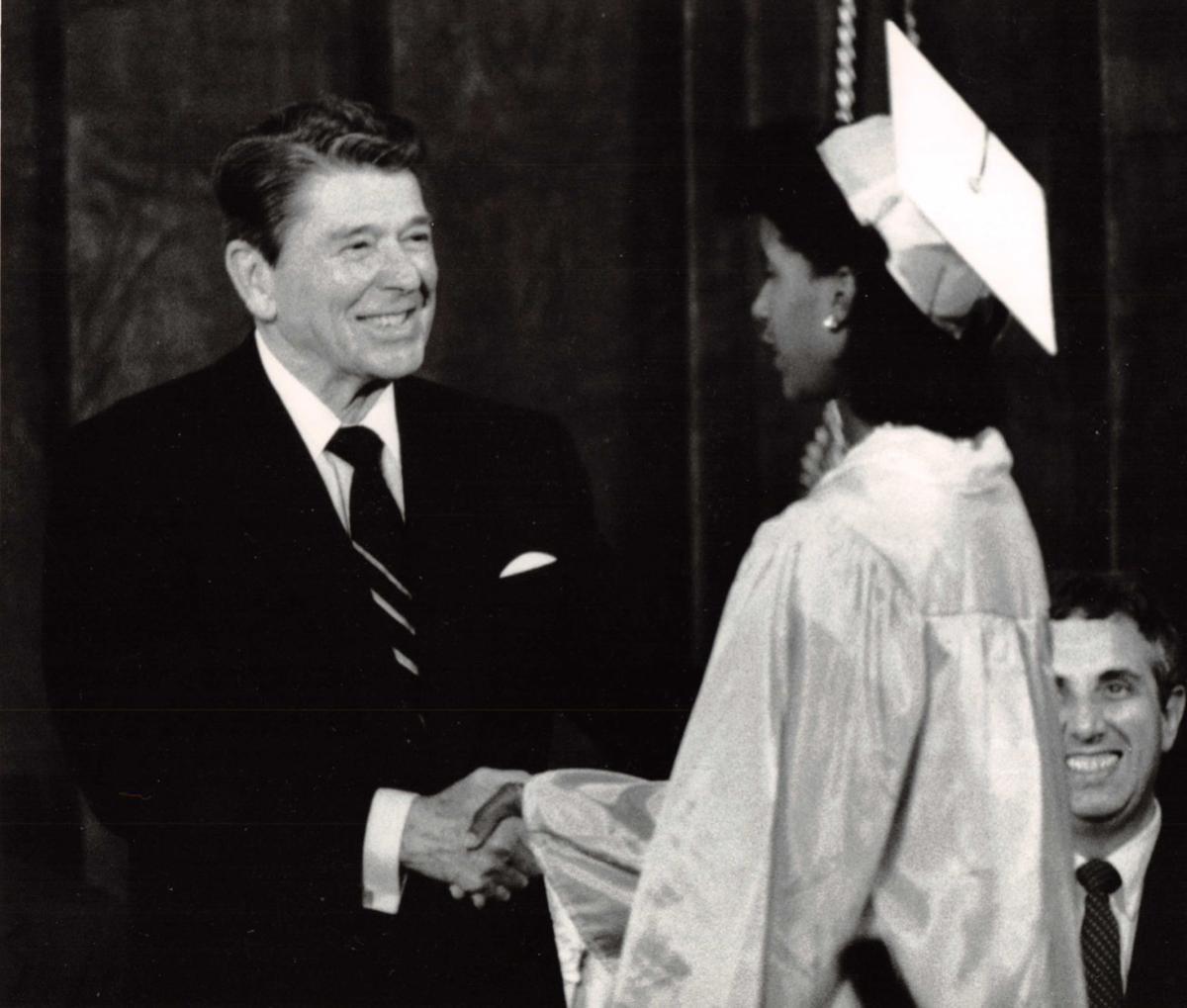 Reagan at Glassboro