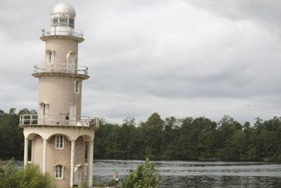 Lake Lenape Lighthouse Cloudy