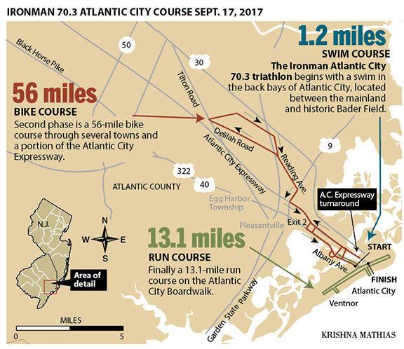 Atlantic City Triathlon map 2017