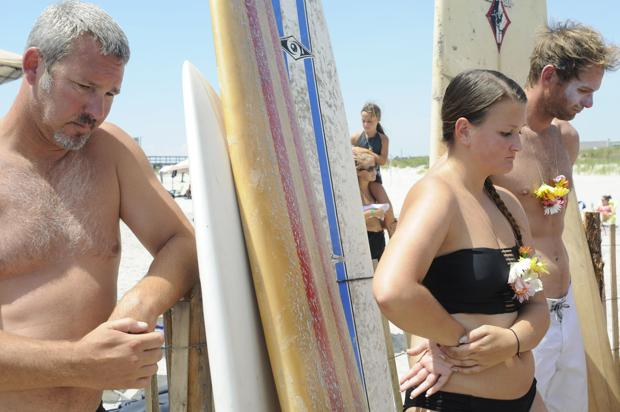 Surfers paddle out one last time for Borek fest