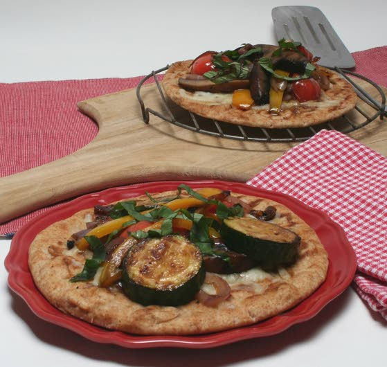 Turn to the grill for a tasty and healthy pizza
