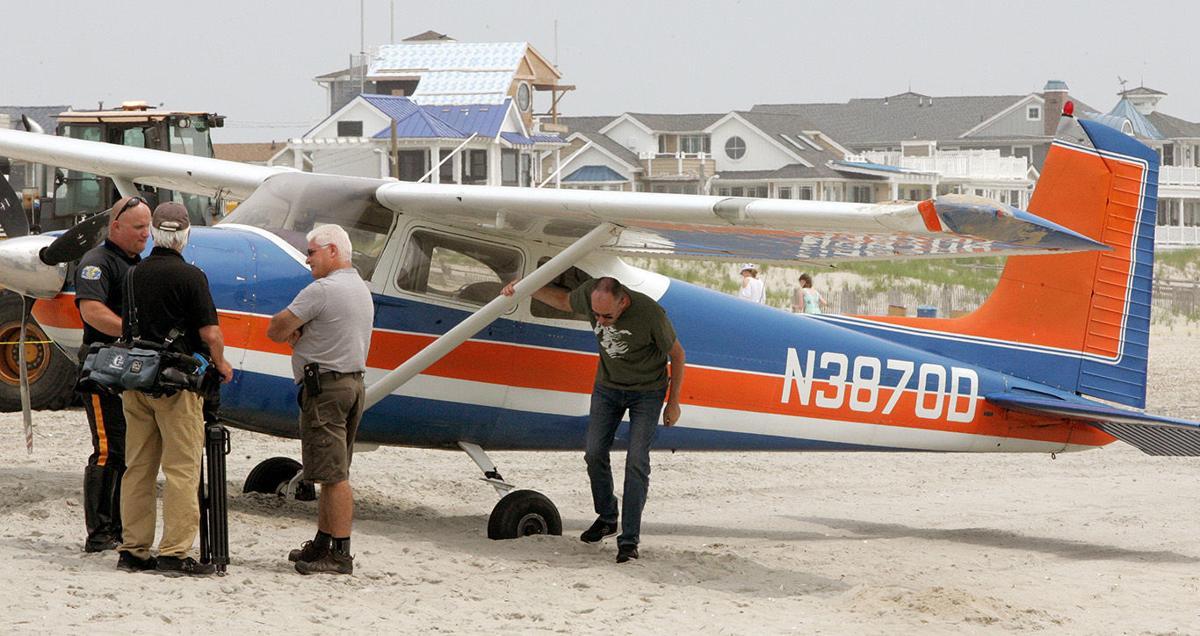 Plane Down Ocean City Beach