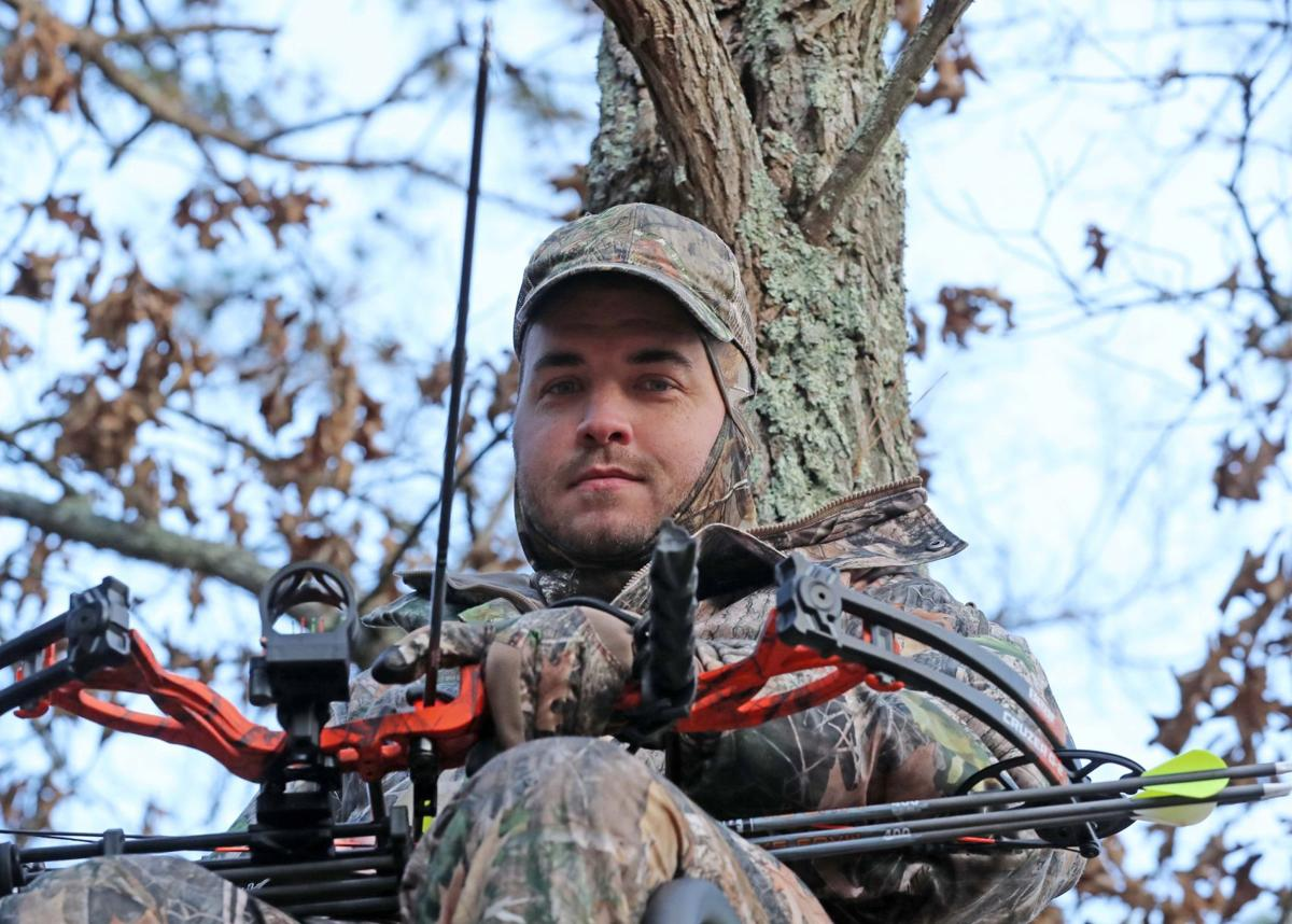 Deer hunting in back of house