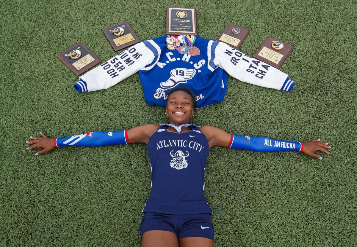 Claudine Smith of Atlantic City High School is The Press Female track Athlete of the Year