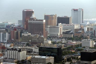 Aerial Atlantic City Skyline