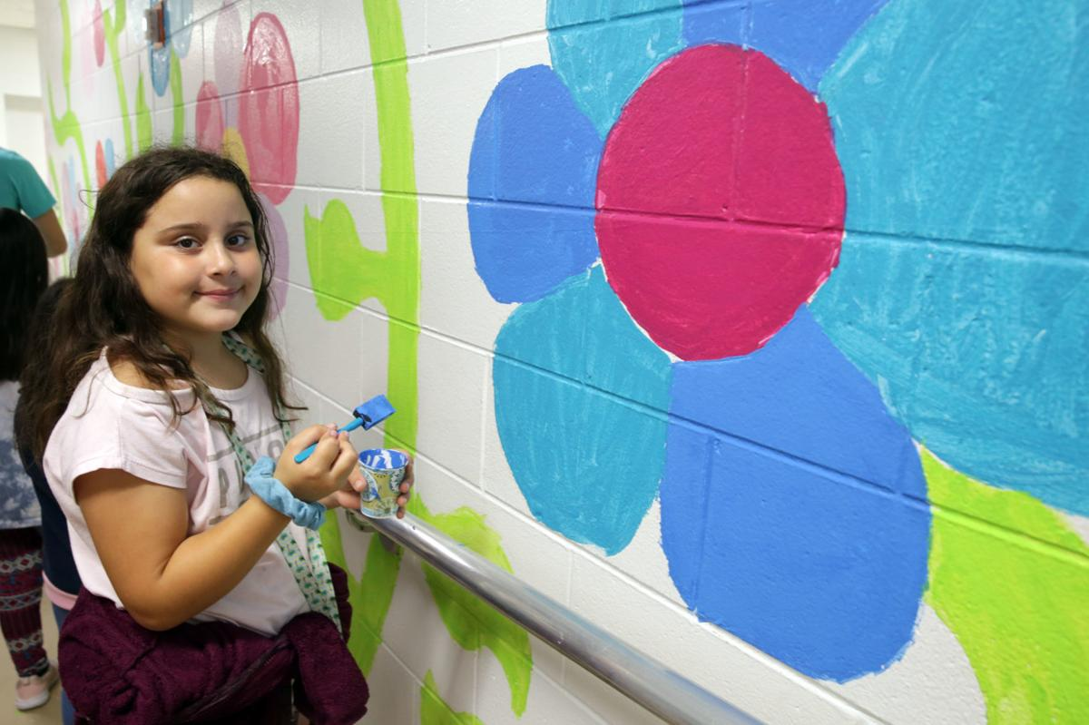Ten Thousand Flowers Project mural at Glenwood Elementary