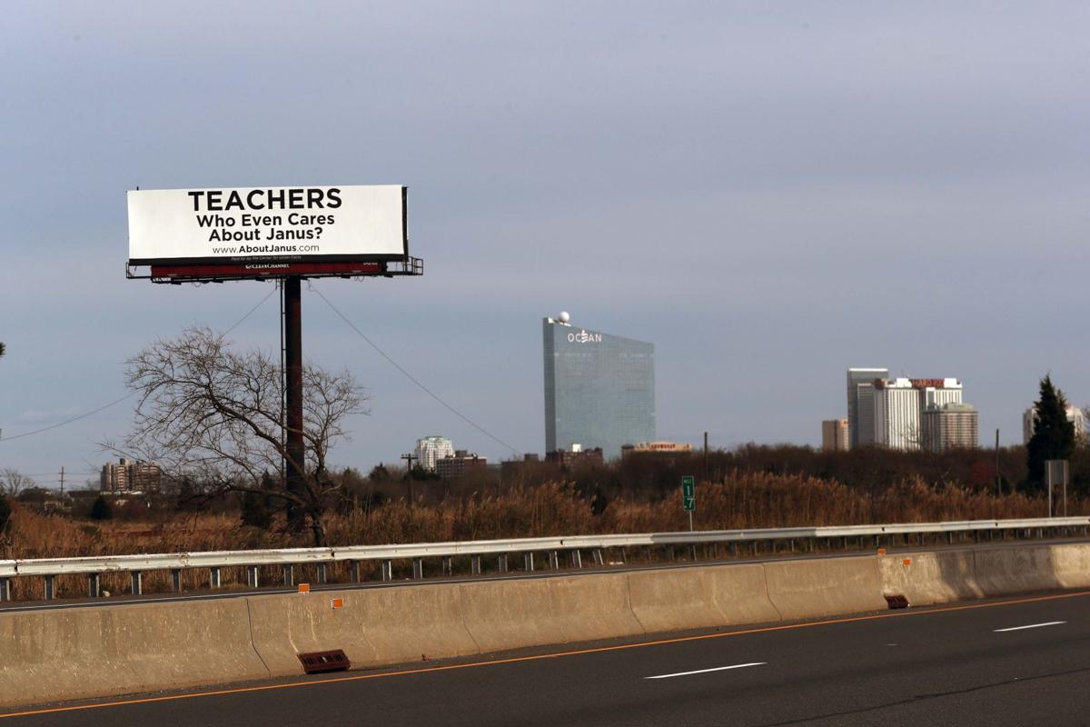"""Who Even Cares About Janus"" billboard"