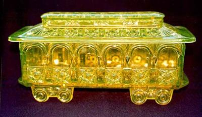 Railway car may be  valuable Vaseline glass