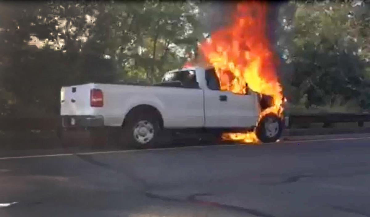 Parkway vehicle fire