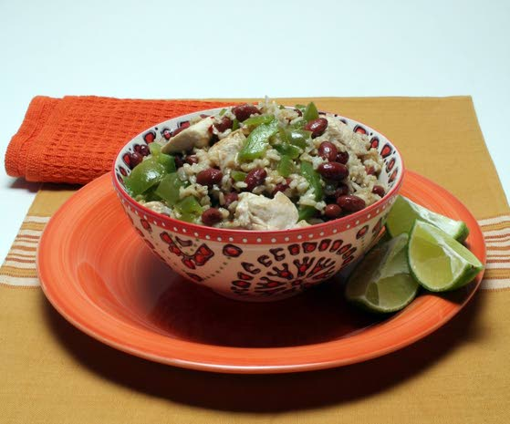 Succulent chicken rounds out this healthy dish