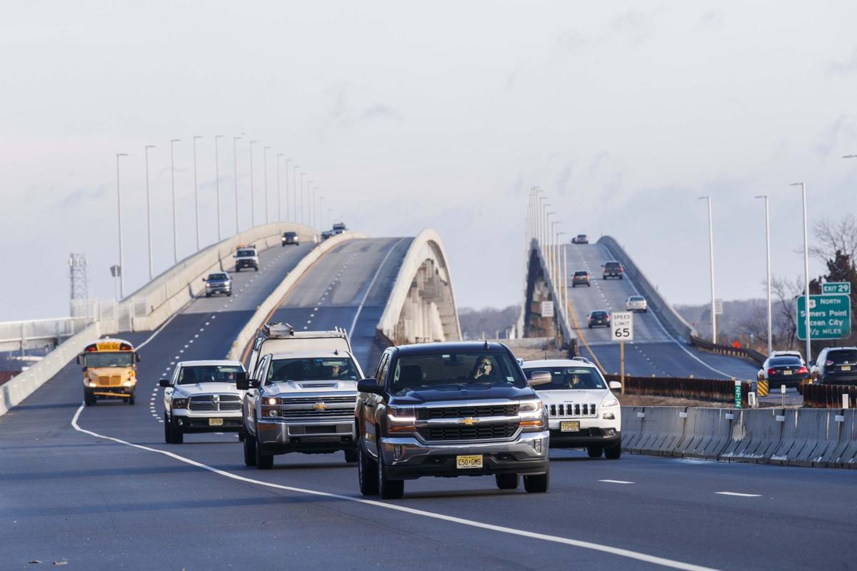 Newly completed Garden State Parkway bridge