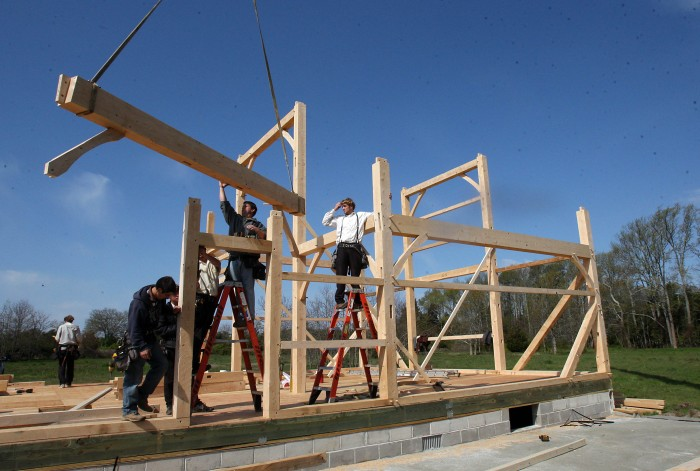Amish barn rasing news galleries for Amish barn construction