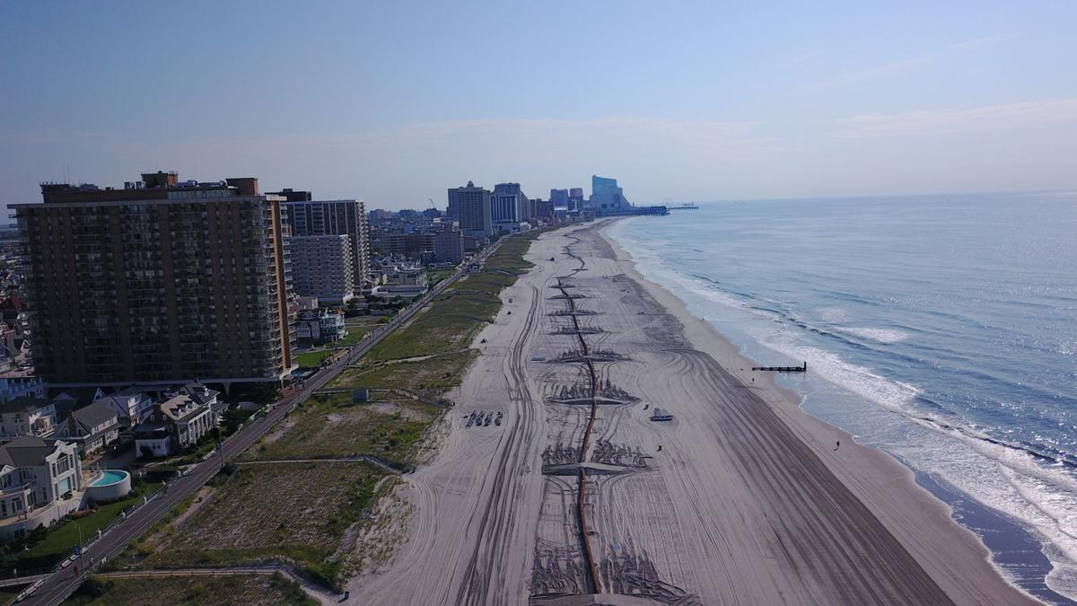 Aerial photos of the ongoing Margate dune project