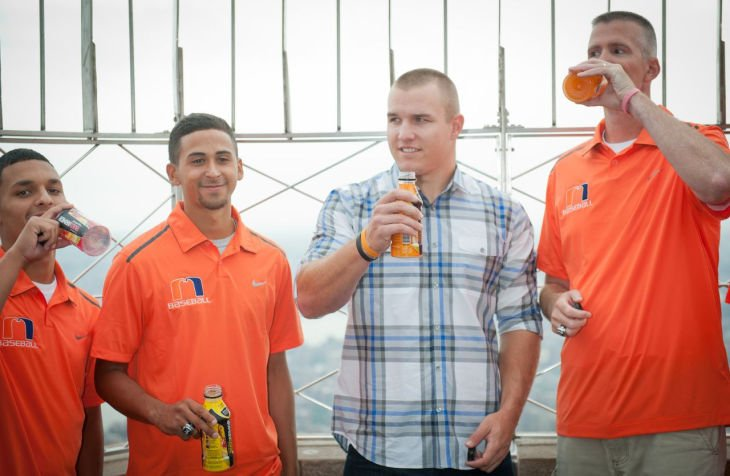 Trout meets Millville players