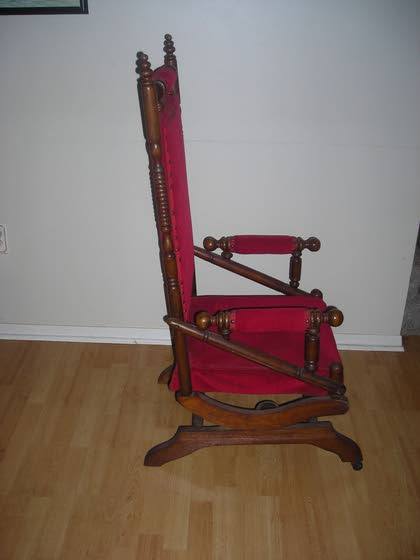 Antiques & Collectibles: Innovative patented chair rocks on